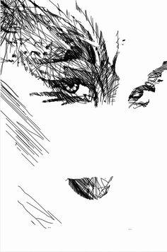 Woman Sketch Digital Art by Rafael Salazar