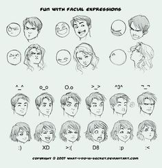 Guides and References to Drawing Animated Facial Expressions    http://karlmac.com/2011/05/guides-and-references-to-drawing-animated-facial-expressions/    http://www.deviantart.com/morelikethis/65876814
