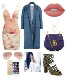 """300 Followers!!!!!!😍💕😁😁😁😁😁😁😁😁🎊🎊🎉🎊🎉🎊🎉 Party all Night Outfit"" by kamillebriana-kd on Polyvore featuring Ginger Fizz, G by Guess, Sandy Liang, Chloé, Lime Crime and Ray-Ban"