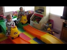 Identical Twins & Their Step 2 Roller Coasters from Santa