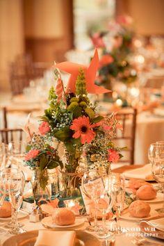Mason jar and pinwheel centerpiece for wedding <3