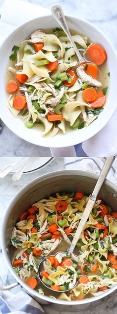 This is THE ultimate comfort food #chicken #noodle #recipe foodiecrush.com