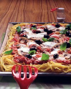 Spaghetti-Pizza - smarter - Kalorien: 634 Kcal - Zeit: 1 Std. | eatsmarter.de