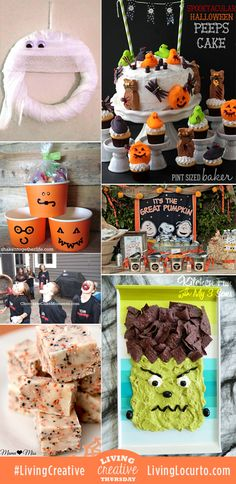 7 Spooktacular DIY Halloween Party Ideas! Featured from Living Creative Thursday at LivingLocurto.com