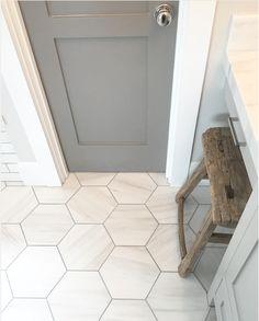 Pin By Cally Burks On Remodel Grey Bathrooms Bathroom Floor Tiles Bathroom Floor Tiles, Basement Bathroom, Master Bathroom, Bathroom Grey, Room Tiles, Entryway Tile Floor, Bathroom Bin, White Bathrooms, Master Baths