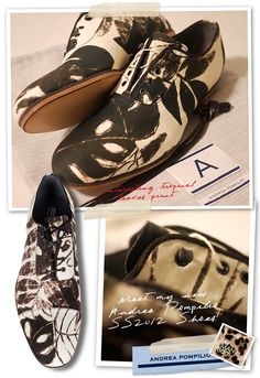Andrea Pompilio Spring Summer 2012 'Tropical Leaves Print' Canvas Lace-ups