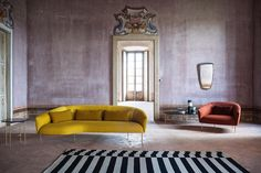 At #MDW2017 @tacchini_italia_forniture presented ROMA sofa and armchair designed by @jonaswagell: inspired by the fifties this design is classical by nature and not only in the name #archiproducts