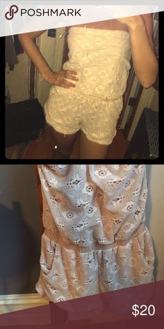 Romper Bought from urban outfitters. Perfect for a summer day or as a beach cover up! Size small. Fits more like an XS Pins & Needles Dresses