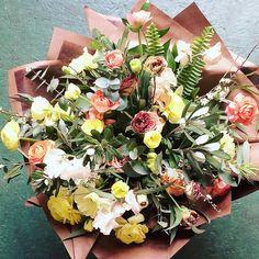 'Designer's choice' bespoke hand-tie bouquet Flower Bar, Hand Tied Bouquet, Small Bouquet, Security Door, Seasonal Flowers, Bespoke, Flower Arrangements, Succulents, This Is Us