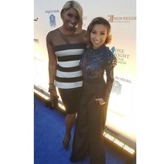 Bumped into my girl @thejeanniemai on the carpet #vegas #charity #1nite1drop #1dropwater