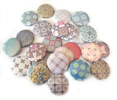 Buttons  Soft Muted Assorted  Set of 20 by buttonsandbadges