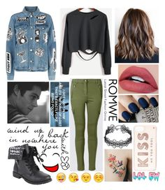 """""""#872"""" by splendoraviolet ❤ liked on Polyvore featuring Frame, Love Quotes Scarves, Design Lab, OPI and Kate Spade"""