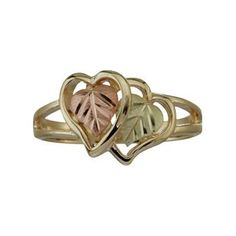 Black Hills Gold 10K Womens Double Heart Ring #Glimpse_by_TheFind
