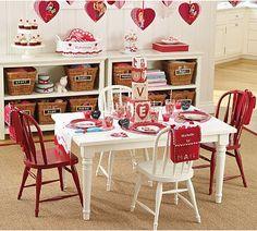 valentine's table.