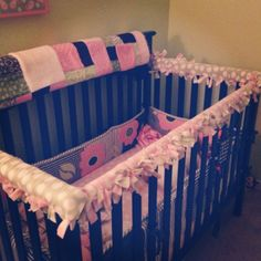 Crib rail teething guards made by yours truly...perfect for those who can't sew :o)