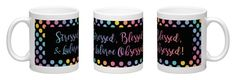 Stresses, Blessed and Lularoe Obsessed - Coffee- Dots
