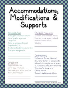 #IEP Accommodations Cheat Sheet! Free for a limited time!