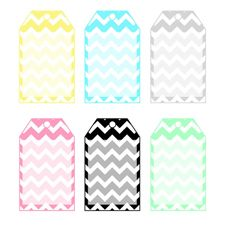 Free Chevron Stripe Tags!