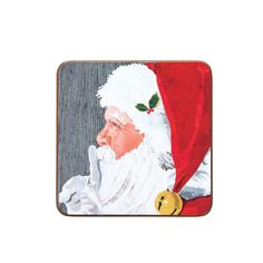 Decorate for the season with this wonderful Santa Christmas Harboard Coaster Set of 4. Perfect for your home or as a gift for a friend or loved one. It's sure to delight year after year. Christmas Embroidery, Santa Christmas, Coaster Set, First Love, Seasons, Gifts, Decor, Products, Presents