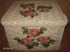 МК по плетению квадратной коробки из газет