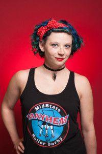 Shirley Temper #30 2016 MMRD Skaters Head Shots | Midstate Mayhem Roller Derby & The Studio on the Square