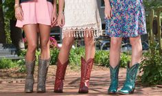 Style Tips: Cowgirl Boots & Dresses http://www.countryoutfitter.com/style/style-tips-rock-boots-dresses-trend/?lhb=style