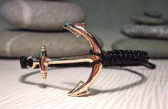 Makramee Armband mit einem Anker von Geralin-Gioielli auf DaWanda.com