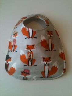 Baby Bib Second Item Ships Free.  Gray Foxes   by Essiedesigns