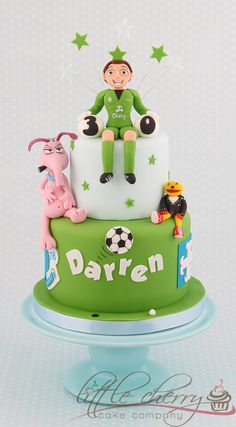 Cake for a Goalkeeper - Who supports Everton, likes golf and likes Cyril Sneer and Gordon the Gopher (UK 80's tv characters) xx