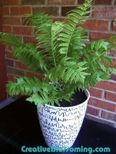 Cool! Turn a plastic garbage can from the Dollar Store into planters...