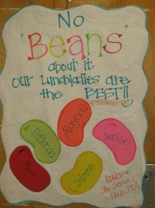 """Teacher Appreciation Door - No """"Beans"""" about it - our Lunch Ladies are the Best!!"""