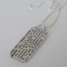modge podge tag necklace, easy!