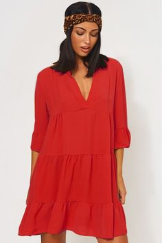 16bff31c2313db Gigi Red Smock Dress. Gigi Red Smock Dress - The Fashion Bible ...