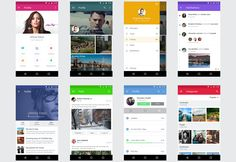 Free Android UI kit delights you with 8 sets of similar items that you can use creatively for crafting your next mobile app.