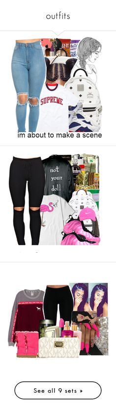 """outfits"" by ksweet065 ❤ liked on Polyvore featuring art, DOPE, Isidoro Francisco, MCM, NIKE, Nike Golf, UGG Australia, Poetic Justice, Nicki Minaj and NARS Cosmetics"