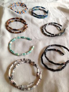 Recycled Magazine Bead Bangles