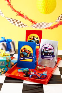 Blaze and Monster Machines Party Goody Bag Decals