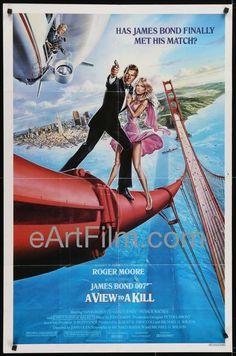 #HappyBirthday #ChristopherWalken https://eartfilm.com/search?q=christopher+walken #actors #acting #Broadway #theater #AViewToAKill #HeavensGate #Basquiat #TheDeerHunter #TheContinental #movie #movies #poster #posters #film #cinema #movieposter #movieposters    A View To A Kill-1985-Roger Moore-Christopher Walken-Grace Jones-1984-27x41