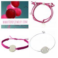 Pulseras de plata para personalizar con su nombre, una frase... En nuestra tienda online: www.kordsjewelry.com