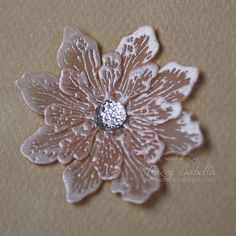 "Garden of Grace: Embossed Vellum Flower Tutorial and ""First Dance"" Details for ScrapThat!"