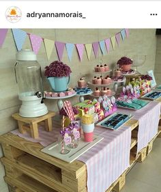 Decoração by Adryanna Morais Festa Baby Alive, 7th Birthday, Birthday Parties, Doc Mcstuffins, Party Ideas, Table Decorations, 4 Years, Anniversary Parties, Birthday Celebrations