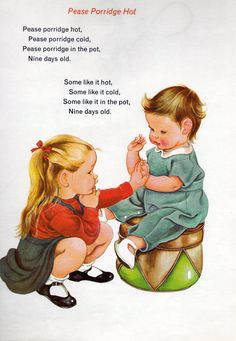 Vintage Books for the Very Young: Eloise Wilkin- Baby's Mother Goose Nursery Rhymes Lyrics, Old Nursery Rhymes, Childhood Poem, Poetry For Kids, Kids Poems, Mother Goose, Little Golden Books, Vintage Children's Books, Children's Book Illustration