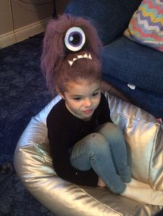 Crazy hair day, purple minion .