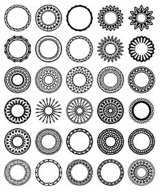 Free Circular Border Shapes for Photoshop and Elements: Circular Design Custom Shape Set 1