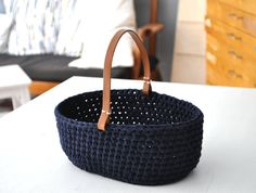 MALJA crochet table basket by Aimankaki on Etsy