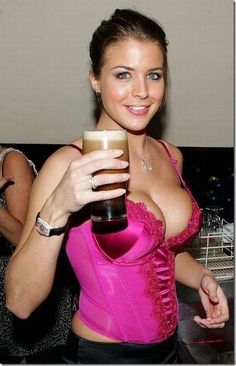 Beer girls just don't get much hotter than Gemma Atkinson – especially when she's wearing a sexy pink corset like this one. My wife lools this sexy without the implants. Guinness, Cheers, Festival Themed Party, Gemma Atkinson, Pink Corset, Beer Girl, Perfect Date, Bikini, Curves