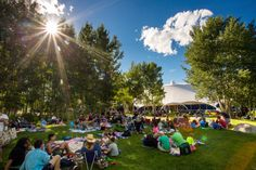 Pack a picnic and relax at the Aspen Music Tent