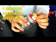 5 Recycled Life Hacks - very clever vid here
