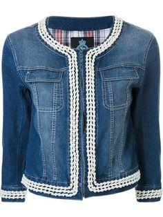 Designer Brand Denim Jackets for Women Diy Jeans, Jeans Refashion, Designer Denim Jacket, Denim And Lace, Blue Denim, Embellished Jeans, Funky Outfits, Blue Jean Jacket, Recycled Denim