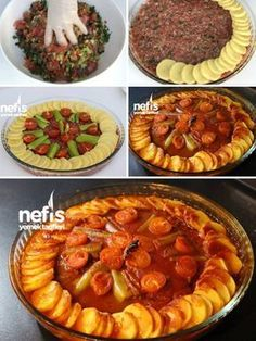How to Make Tray Kebab Recipe? Illustrated explanation of the Tepsi Kebab Recipe in the book of Turkish Recipes, Italian Recipes, Breakfast Items, Breakfast Recipes, Turkish Kitchen, Kebab Recipes, Fish And Meat, Arabic Food, Iftar